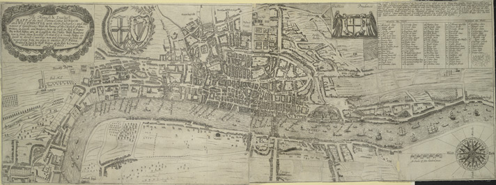 The Newest and Exactest MAPP of the most Famous Citties LONDON and WESTMINSTER, with their Suburbs; and the manner of their Streets:
